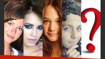 Los jóvenes actores que interpretarán a los hijos de Suar y una incógnita (Fotos: Web).