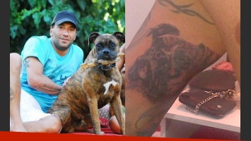 Gustavo también dejó inmortalizado el rostro de su mascota en su piel (Foto: Web y Twitter).
