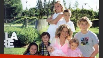 Maru Botana festeja el Día de la Madre con sus siete hijos. (Foto: Revista Gente)