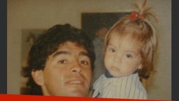 Unafoto para el recuerdo: Diego y Dalma, juntos. (Foto: Twitter)