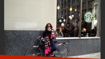 Calu y si bici recuperada. (Foto: @riverocalu)