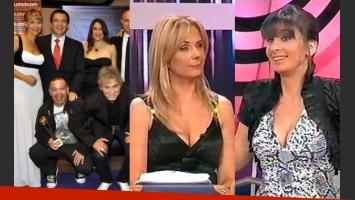 El equipo de Bendita, con Evelyn Von Brocke, en los premios Tato, ante la indigación de Edith Hermida. (Foto: Web)