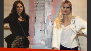 Candelaria y Micaela Tinelli, juntas en la exposición de arte. (Foto: revista Gente)