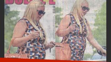 Las fotos de Verónica Ojeda y su pancita de seis meses (Fotos: Crónica).