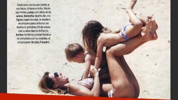 Las vacaciones familiares de Rocñio Girao Díaz. (Foto: Revista ¡Hola! Argentina)