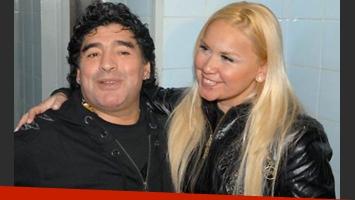 Diego Maradona y Verónica Ojeda, meses atrás  (Foto: Web).