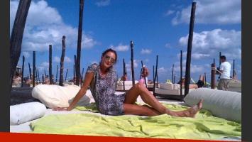 Luciana Aymar, en Cancún (Foto: Twitter).