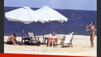 Las vacaciones de Ricardo Darín en Punta del Este. (Foto: revista Gente)
