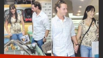 David Nalbandian junto a su mujer embarazada, Victoria (Foto: revista ¡Hola! Argentina).