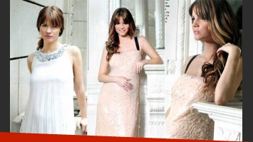 Paula Cancio, la novia de Miguel Angel Sola, posó para la revista ¡Hola! Argentina.
