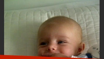 Jimena Campisi compartió las fotos más dulces del pequeño Milo (Foto: Twitter).