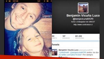 Benjamín Vicuña y el homenaje en la Web para Blanquita (Foto: Twitter).