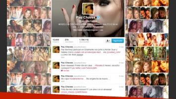 El emotivo collage de Paula Chaves (Foto: Twitter).