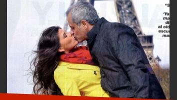 Jorge Rial y La Niña Loly, en París. (Foto: revista Gente)