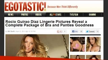 Rocío Guirao Díaz en la web estadounidense Egotastic! (Foto: captura web).