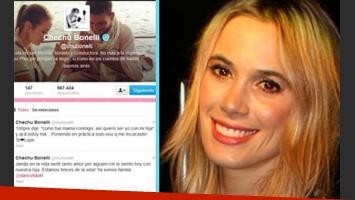 Chechu Bonelli y sus emotivos tweets. (Foto: Web)