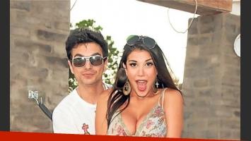 Andrea Rincón y Ale Sergi, en tiempos felices. (Foto: Web)