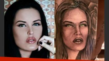 La foto que inspiró el romántico tatuaje de Mauro Zárate. (Foto: revista Paparazzi)