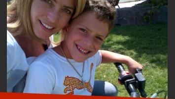 Felipe y Pamela, en moto (Foto: Twitter).