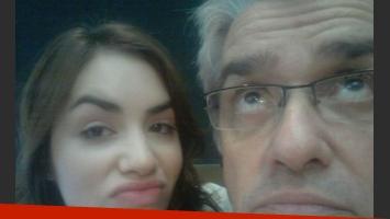 Roberto Pettinato y Lali Espósito (Foto: Twitter).