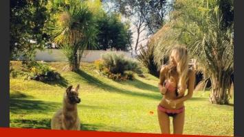 La sensual campaña de lencería de Melina Pitra (Foto: Twitter).