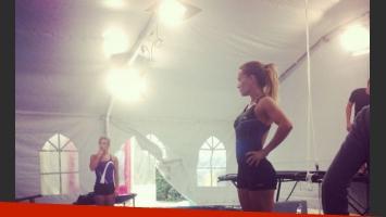 Claudia Albertario entrena para Celebrity Splash. (Foto: Prensa Telefe)