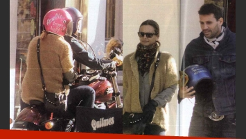 Amalia Granata y un look muy especial para pasear en moto (Fotos: Revista Pronto).