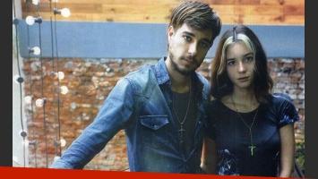 Joaquín Rozas y Lucía Celasco, enamorados (Foto: revista Gente).