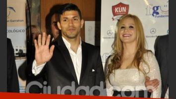 El Kun Agüero y Karina, los más buscados de la gala (Foto: Jennifer Rubio).