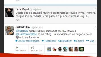 Jorge Rial y un picante tweet para su colega Majul (Fotos: Web).