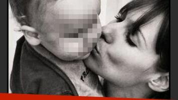 La fotografía que publicó Pampita junto al pequeño Beltrán (Foto: Twitter).