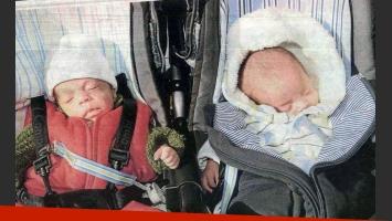 Octavio y Malik, los mellizos de Miguel Habud. (Foto: revista Semanario)