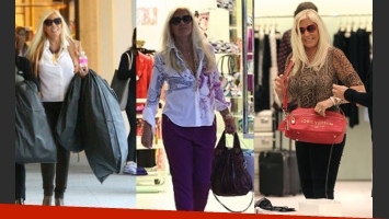 Susana Giménez y un shopping compulsivo (Foto: Web).