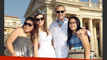 Jorge Rial, Loly Antoniale, Rocío y Morena en Roma (Fotos: Gente).