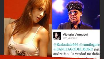 Victoria Vannucci sigue la pelea 2.0 con Andrés Calamaro. (Fotos: Web)