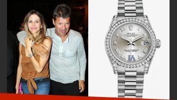 El reloj que Marcelo Tinelli le regalará a Guillermina Valdés. (Fotos: Web)
