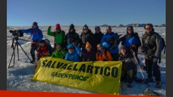 La increíble expedición de Alejandro Sanz para una campaña de Greenpeace. (Foto: Twitter)