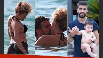 Las vacaciones de Shakira y Piqué con su hijo, Milan, en Hawaii (Fotos: Daily Mail y Twitter).