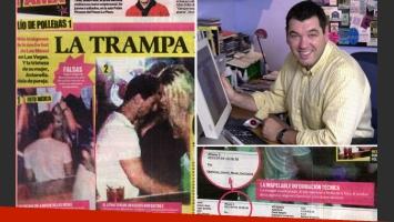Pablo Grosby, quien comercializó las fotos de Messi, exhibió información técnica (Fotos: Web y diario Muy).