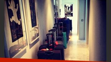 Paris Hilton y las 19 valijas que llevó a Ibiza (Fotos: Instagram).