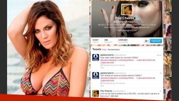 Paula Chaves superó los 2 millones de seguidores en Twitter. (Fotos: Luz de Mar y @paulitachaves)