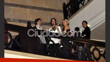 Ortega, su novia y Hendler festejan el éxito (Foto: Jennifer Rubio).