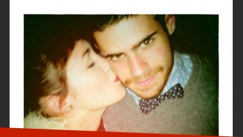 Gastón Soffritti y una tierna foto junto a Candela Vetrano. (Foto: Twitter @soffrittigaston)