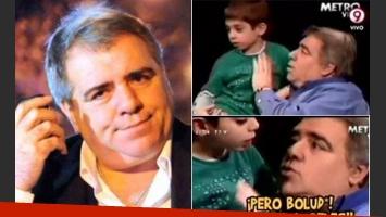 Miguel Angel Pierri y el comentario de su hijito. (Fotos: Web y Capturas TV)