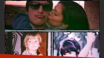 Las tiernas fotos de Silvina Escudero y su novio (Foto: Twitter).