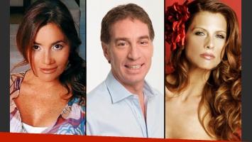 Escandaloso triángulo amoroso: Nancy Pazos, Diego Santilli y Analía Maiorana (Fotos: Web).