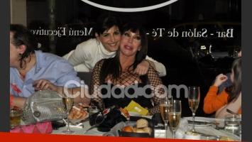 Moria Casán y un divertido festejo de cumpleaños (Foto: Jennifer Rubio).