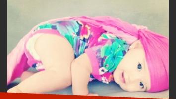 Las fotos sexy de las vacaciones de Lola Ponce: Erin, su hija de 6 meses. (Foto: Instagram)