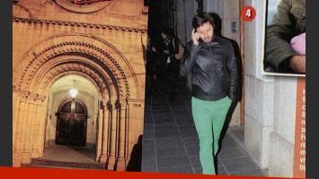 Benjamín Vicuña, la iglesia, Pancho Dotto y el cura. (Fotos: revista Paparazzi)