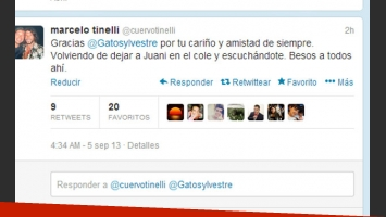 El tweet en respuesta de la información de Sylvestre (Foto: Captura).